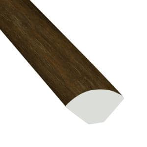 Aged Walnut 3/4 in. Thick x 3/5 in. Wide x 94 in. Length Luxury Vinyl Quarter Round Molding