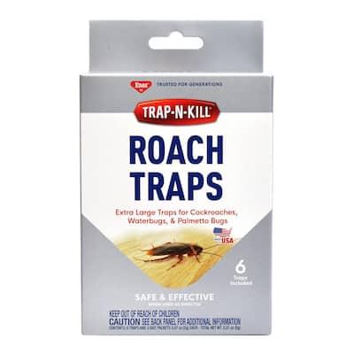 Trap-N-Kill Cockroach Traps (6-Traps Plus 3-Baits)