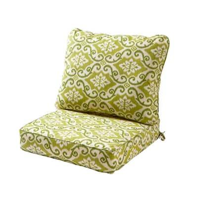 Shoreham Ikat 2-Piece Deep Seating Outdoor Lounge Chair Cushion Set