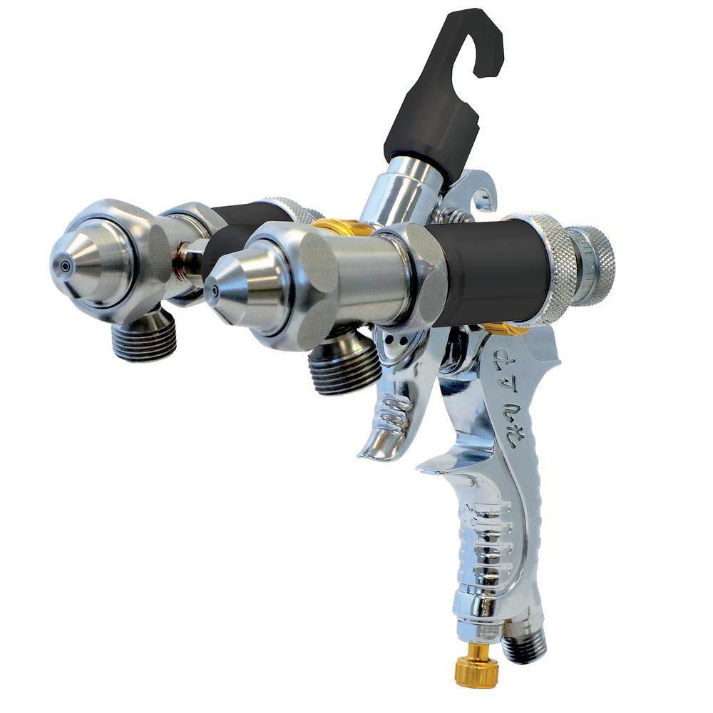 Dual head Spray Gun for Chroming, Silvering or any dual fluid application