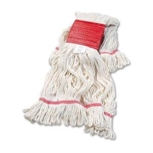 Super Loop Large Size Cotton/Synthetic Wet Mop Head in White (12-Carton)