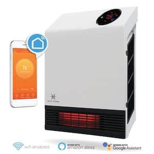 1,000-Watt Wi-Fi Smart Heater Deluxe Indoor Wall Mount Infrared Heater