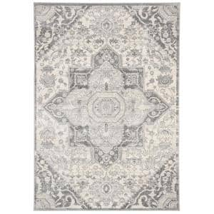 Brentwood Gray/Cream 6 ft. x 9 ft. Area Rug
