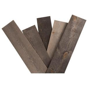 5/8 in. x 5-1/2 in. x 48 in. Rustic Weathered Grey Pine Solid Wood Wall Paneling