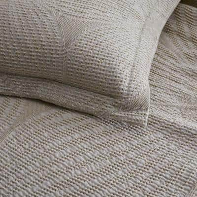 Carlin Natural Geometric Twin Cotton Coverlet