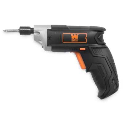 3.6-Volt Lithium-Ion Cordless Electric Screwdriver with Bits and Belt Holster