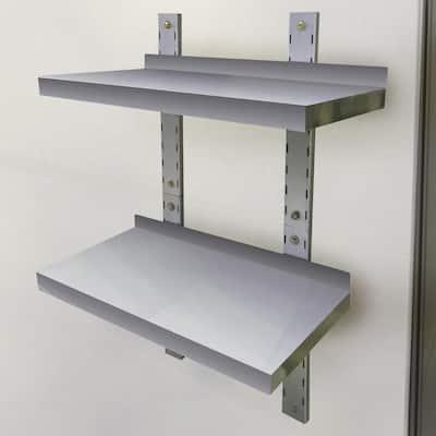 2-Shelf 24 in. Stainless Steel Wall Mounted Shelf