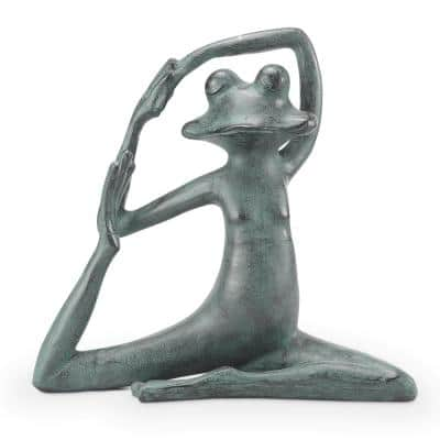 Relaxed Yoga Frog Garden Statue