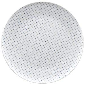 Blue/White Hammock Porcelain Dots Coupe Dinner Plate 11 in.