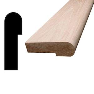 1 in. x 3-1/4 in. x 96 in. Oak Wood Stair Nosing Moulding