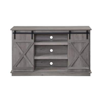 Bellona 16 in. D Gray TV Stand with 7 Shelves Fits TV's up to 72 in.