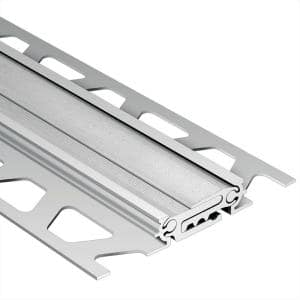 Dilex-BT Satin Anodized Aluminum 9/16 in. x 8 ft. 2-1/2 in. Metal Movement Joint Tile Edging Trim