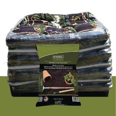 1 cu. ft. Screened at 3/8 in. Premium Quality Compost Pallet (49 Bags)