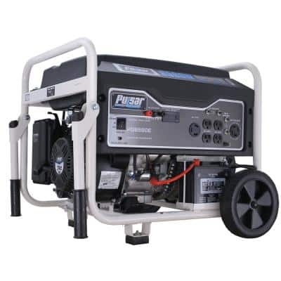 6,580/5,500-Watt Gasoline Powered Electric/Recoil Start Portable Generator with CARB Compliant 274 cc Engine