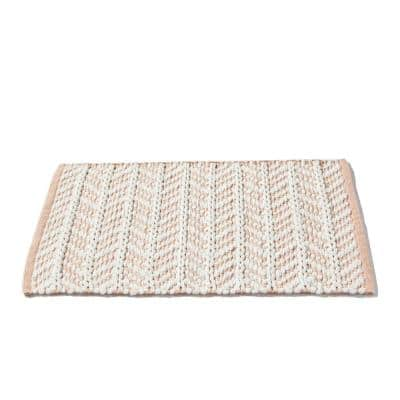 20 in. x 30 in. Pink Pastel Petals Cotton/Polyester Bath Rug