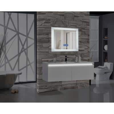 Encore BLU102 36 in. W x 27 in. H Rectangular LED Illuminated Bathroom Mirror with Bluetooth Audio Speakers