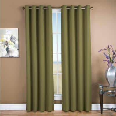 Sage Grommet Blackout Curtain - 56 in. W x 84 in. L