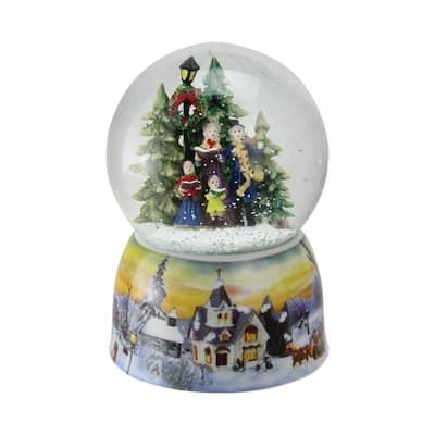 6 in. Christmas Carolers Winter Scene Musical Water Snow Globe