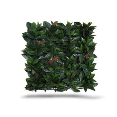 19.68 in. x 19.68 in. Green Artificial Laurel Wall Panels (Set of 4)