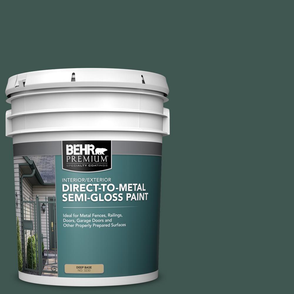 5 gal. #HDC-CL-21A Dark Everglade Semi-Gloss Direct to Metal Interior/Exterior Paint