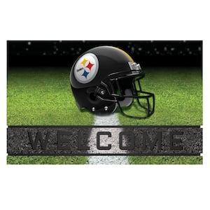 NFL - Pittsburgh Steelers 18 in. x 30 in. Rubber Door Mat