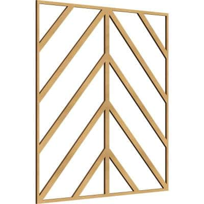 23 3/8 in. x 23 3/8 in. x 1/4 in. MDF Large Genoa Decorative Fretwork Wood Wall Panels (20-Pack)