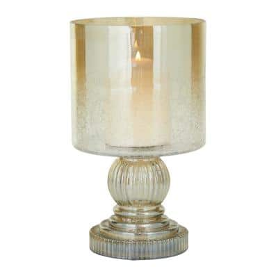 Brass Glass Traditional Candle Holder Hurricane Lamp