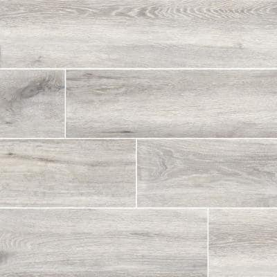 Toledo Blanc 6 in. x 36 in. Matte Porcelain Floor and Wall Tile (13.5 sq. ft./Case)