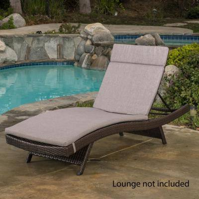 Miller Gray Outdoor Chaise Lounge Cushion