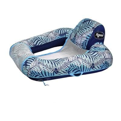 Blue Fern Gravity Inflatable Comfort Swimming Pool Chair Lounge Float