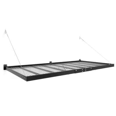 Pro Series 4 ft. x 8 ft. Steel Garage Wall Shelving in Black (2-Pack)