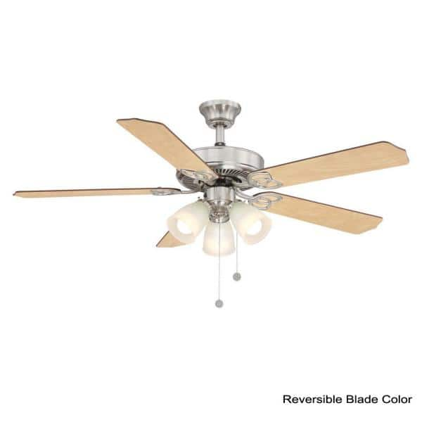 Reviews For Brookhurst 52 In Led Brushed Nickel Ceiling Fan With Light And Wifi Remote Control Works With Google And Alexa Yg268 Bn B The Home Depot