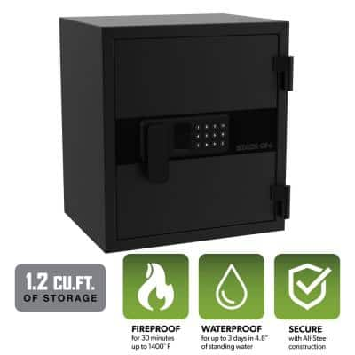 1.2 cu. ft. Personal Fire and Waterproof Safe with Electronic Lock, Black