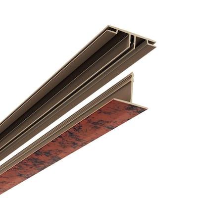 100 sq. ft. Vinyl Ceiling Grid Kit Moonstone Copper