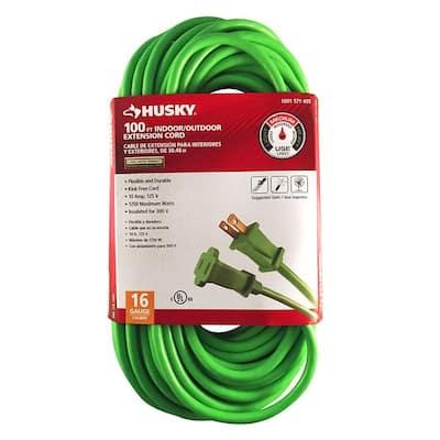 100 ft. 16/2 Indoor/Outdoor Extension Cord, Green