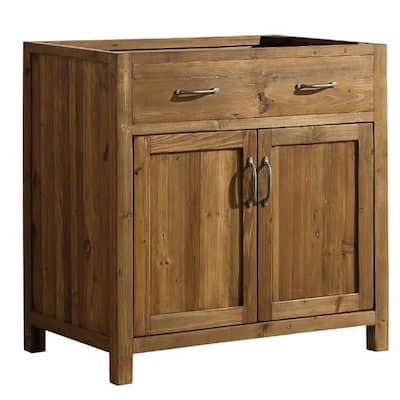 Bryson 35.25 in. W x 21.5 in. D Bath Vanity Cabinet Only in Walnut