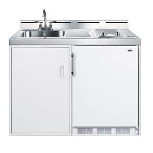 48 in. Compact Kitchen in White