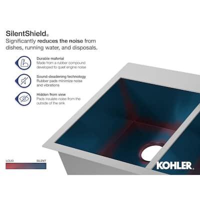 Vault Undermount Stainless Steel 24 in. Single Bowl Kitchen Sink