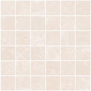 Delray Beige 12 in. x 12 in. x 8.5 mm Porcelain Mosaic Tile