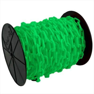 1.5 in. (#6, 38 mm) x 200 ft. Reel Green Plastic Chain