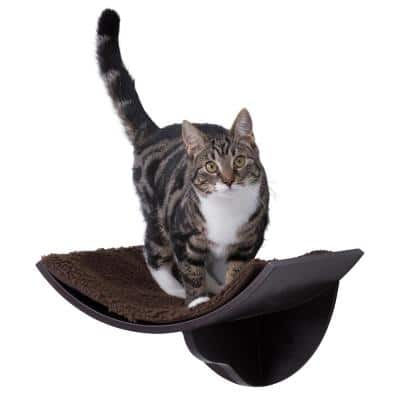 Small to Medium Brown Wall Mount Cat Bed
