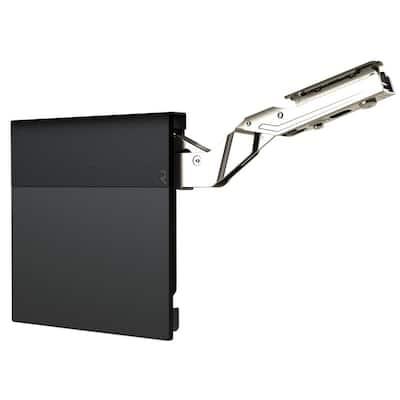 Black 107° Lift-Up Hinge Air System, Medium-Duty Soft-Close Vertical Opening Hinge (1-Pair)