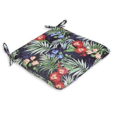 Luella Tropical Sky Square Outdoor Dining Seat Pad (2-Pack)