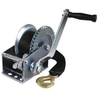 3/4 in. Dia. Hub, Manual Trailer Winch With Strap with 1,200 lbs. Maximum Load