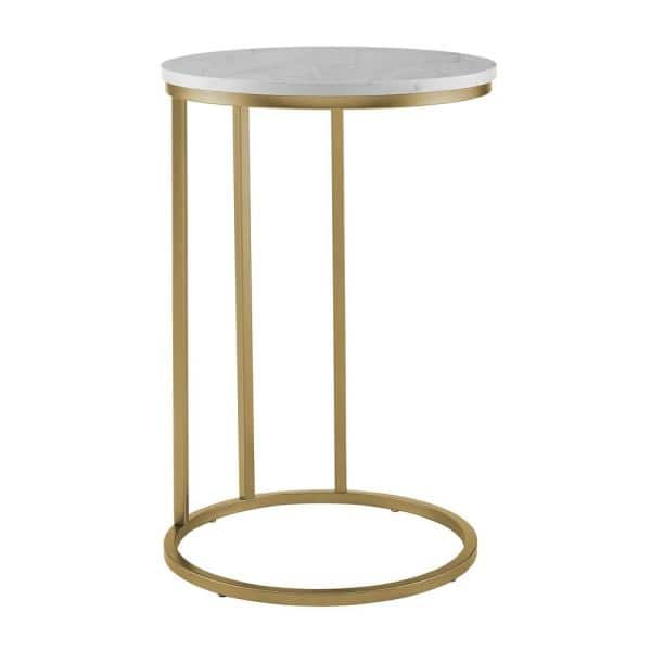 Walker Edison Furniture Company 16 In, Round C Table