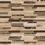 Stonegate Interlocking 12 in. x 12 in. x 8 mm Glass/Stone Blend Mesh-Mounted Mosaic Wall Tile (1 sq. ft.)