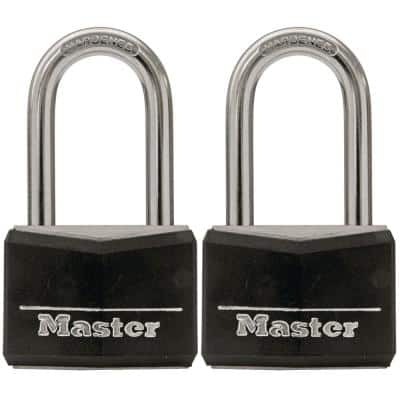 1-9/16 in. (40 mm) W Covered Solid Body Keyed Padlock with 1-1/2in (38 mm) Shackle (2-Pack)