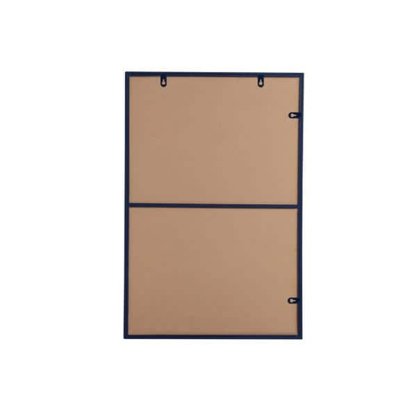 Large Rectangle Blue Modern Mirror 42 In H X 28 In W Wm8154blue The Home Depot