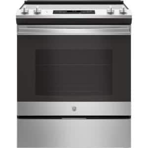 30 in. 5.3 cu. ft. Slide-In Electric Range with Self-Cleaning Oven in Stainless Steel