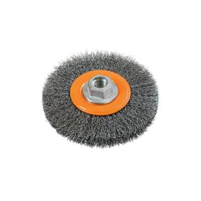 5 in. Crimped Wire Wheel Brushes 5/8 in.-11 in. Arbor